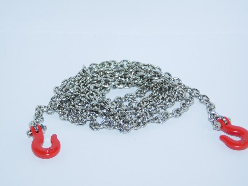 R.A Products Abschleppkette  mit Haken Stahl Rot