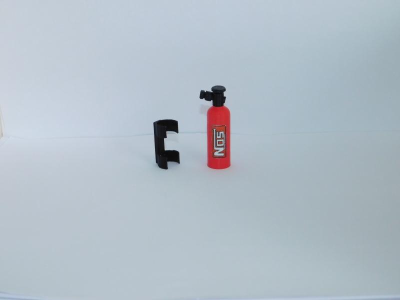 R.A-Products NOS Lachgasflasche 1:10 mit Halterung