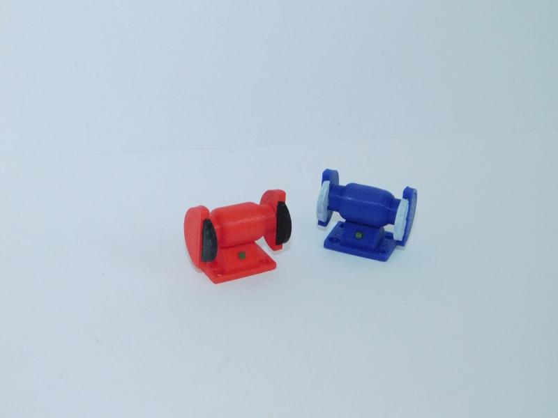 R.A-Products Tisch-Schleifmaschine 1.10 Blau / Rot