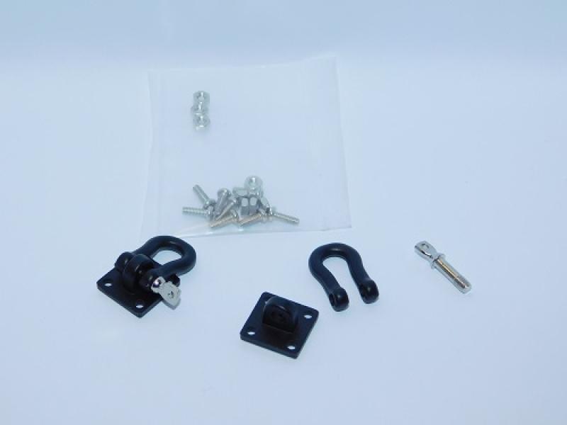 R.A Products Schäkel 1:10 1 Paar Schwarz Heavy Duty