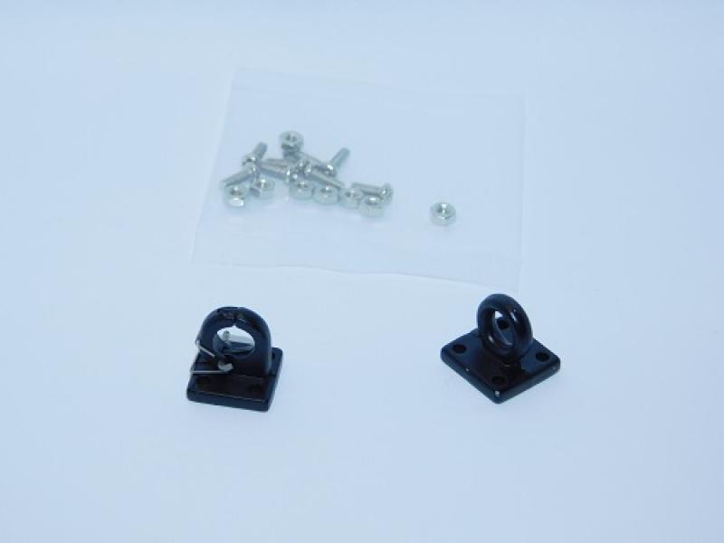 R.A Products Klemm-Ring- und Schleppseil-Ösen-Haken Metall 1:10 1Paar Schwarz