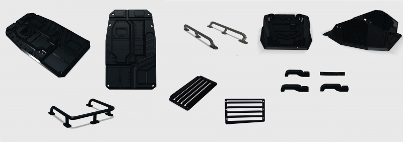 R.A Products Komplett Body Kit Set TRX-4 Tactical Unit Karosserie