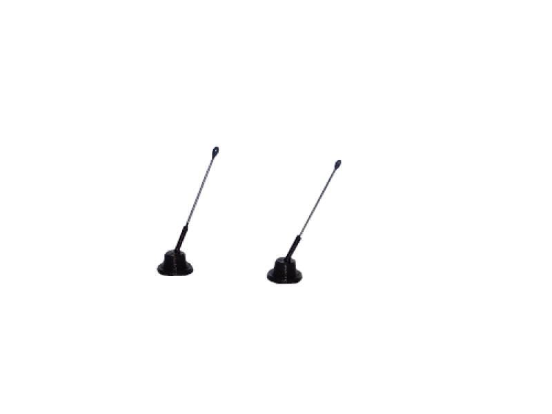 R.A Products Dach  Antennen 2,5cm  2stk 1:14 tamiya Man scania Actros etc