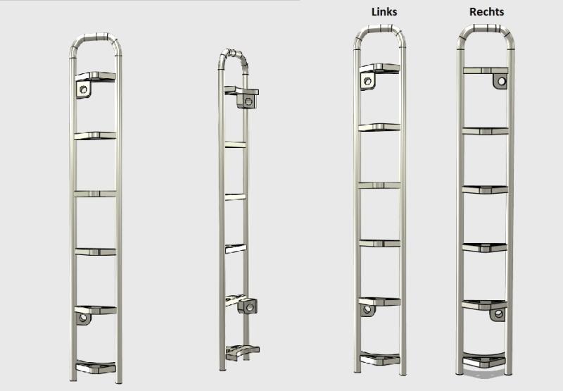 R.A Products Scania Seitenleiter zum schrauben 1:14 1 Paar 2Stk