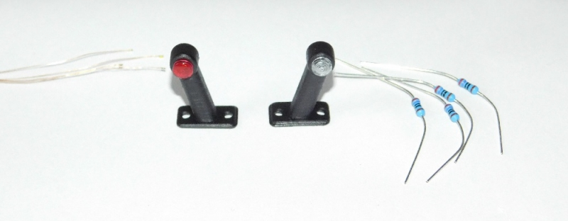 R.A Products Begrenzungsleuchte / Positionsleuchte V4 20mm aus Gummi inkl Smd 1 Paar