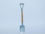 R.A Products Spaten Eckig mit Metallblatt und Holzstiel 1:10