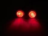 R.A Products 12mm Off/Onroad Scheinwerfer Bremslichter Chrom mit Glas 1:10 / 1:16 Rot Rc Auto Beleuchtung