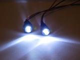 R.A Products Scheinwerfer 1:10/ 1:8 Front Kunststoff Schwarz Rc Auto Beleuchtung