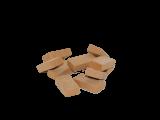 Tonziegelsteine 1:10 rot, 23x11x5mm