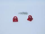 R.A Products Klemm-Ring- und Schleppseil-Ösen-Haken Metall 1:10 1Paar rot