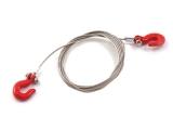 R.A Products Abschleppseil Stahl  mit Haken Rot