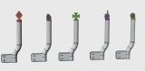 R.A Products Peilstangen / Begrenzungsstab 1 Paar 1/14 Scania Custom Version V1 Inkl SMD
